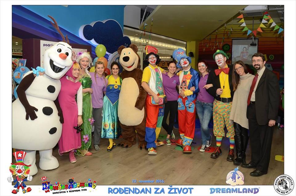 Dreamland igraonica, klovn Šašavko i šašava družina prikupili 52.571,00 RSD za bolesnu decu