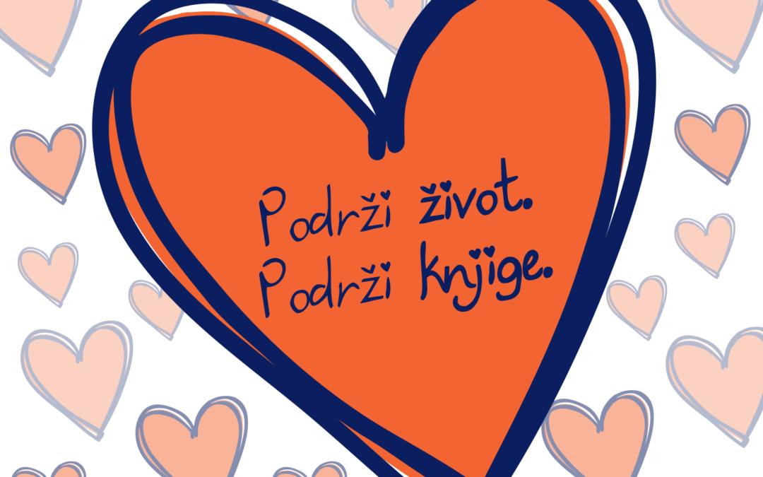 Podrži život – Podrži knjige sa Unom Senić i Urošem Ćertićem za dan zaljubljenih