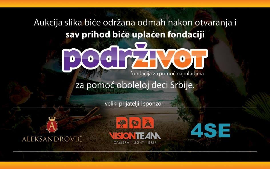 """Izložba fotografija i humanitarna aukcija """"Survivor Srbija"""" i """"Podrži Život"""""""