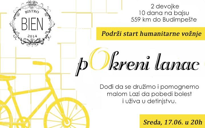 Biciklima od Beograda do Budimpešte za bolesnu decu