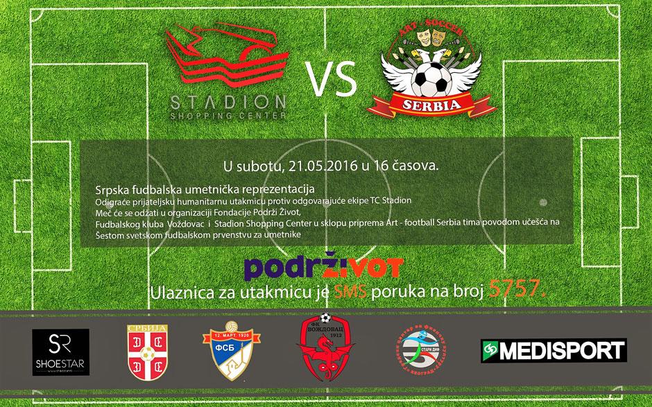 "Humanitarna utakmica ""ART FOOTBALL SERBIA TEAM"""